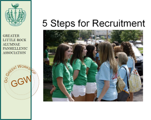5 Steps for Sorority Recruitment
